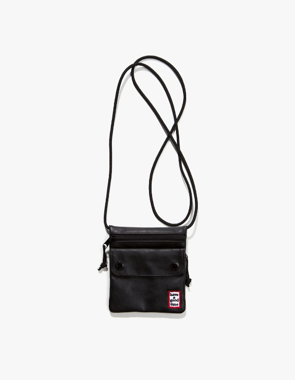 have a good time Frame Faux Leather Small Shoulder Bag - Black | HEIGHTS. | 하이츠 온라인 스토어