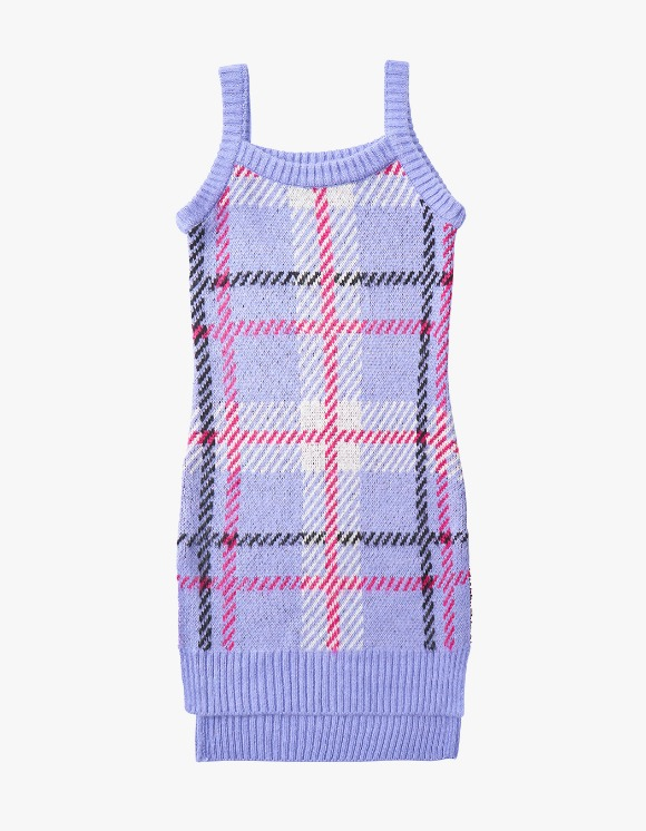 eyeye Check Pattern Knit One Piece - L.Purple | HEIGHTS. | 하이츠 온라인 스토어