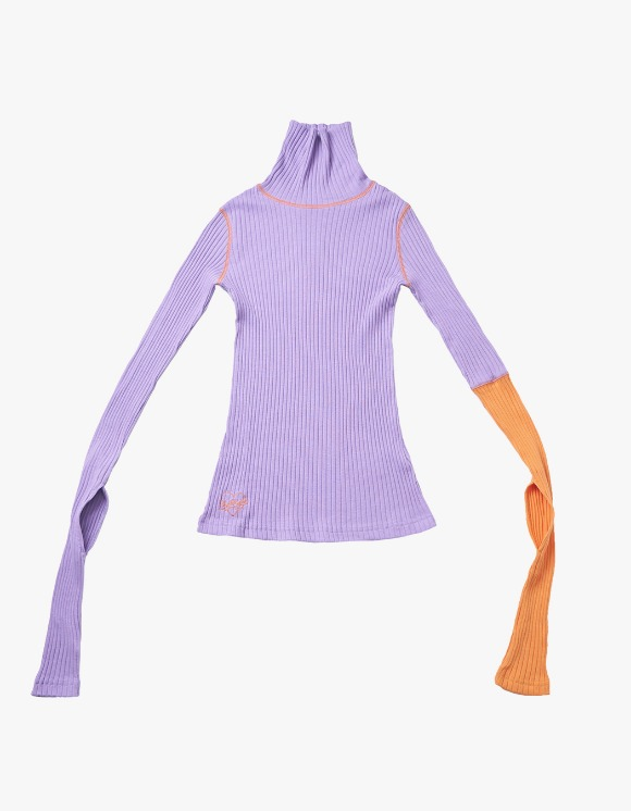 eyeye Sleece Knot Combination Top - Purple | HEIGHTS. | 하이츠 온라인 스토어