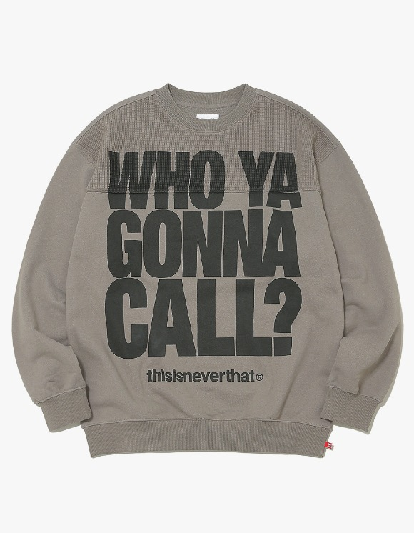 thisisneverthat WHO YA Crewneck - Warm Grey | HEIGHTS. | 하이츠 온라인 스토어