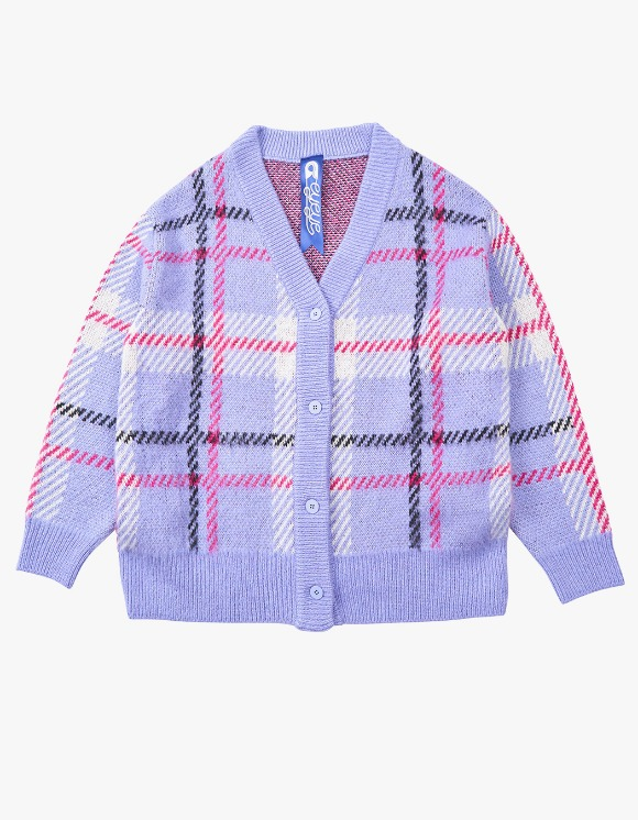 eyeye Check Pattern Knit Cardigan - L.Purple | HEIGHTS. | 하이츠 온라인 스토어