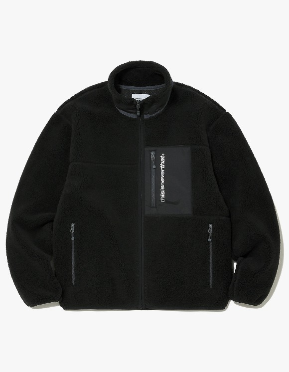thisisneverthat SP Boa Fleece Jacket - Black | HEIGHTS. | 하이츠 온라인 스토어