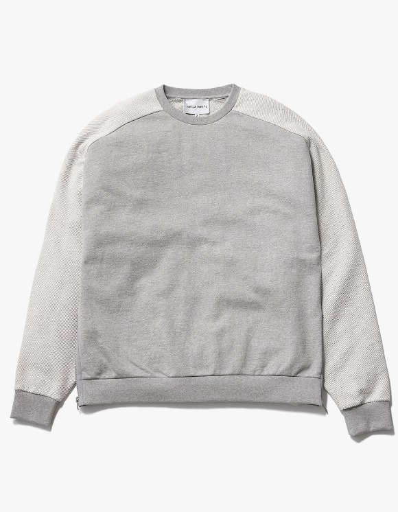 AECA WHITE Suite Double Zip Sweat - Grey | HEIGHTS. | 하이츠 온라인 스토어