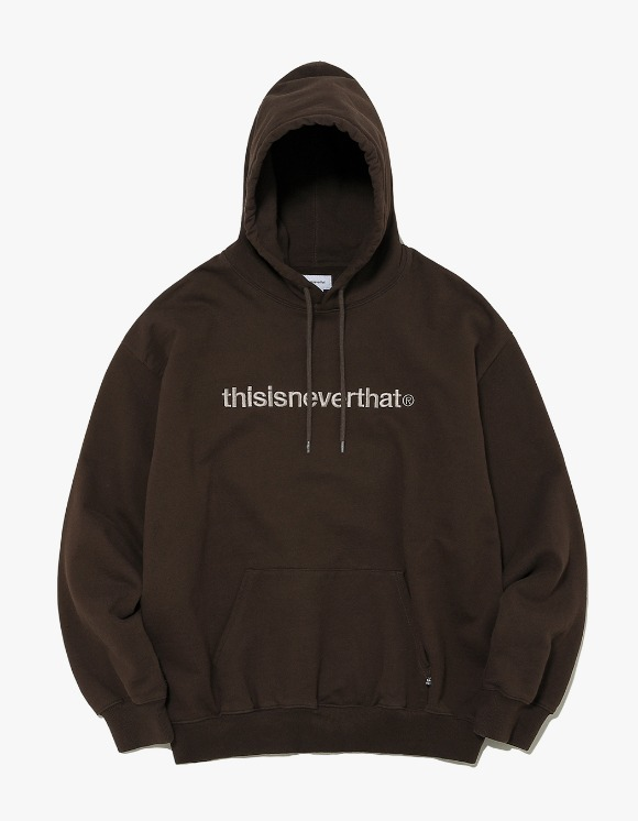 thisisneverthat T-Logo Hooded Sweatshirt - Brown | HEIGHTS. | 하이츠 온라인 스토어