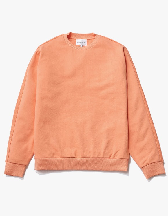 AECA WHITE Blake Patch Sweat - Peach Pink | HEIGHTS. | 하이츠 온라인 스토어