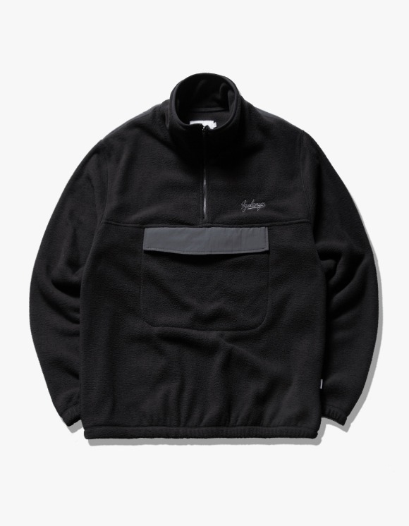 IZOLA NYC Fleece Mock Neck Anorak - Black | HEIGHTS. | 하이츠 온라인 스토어