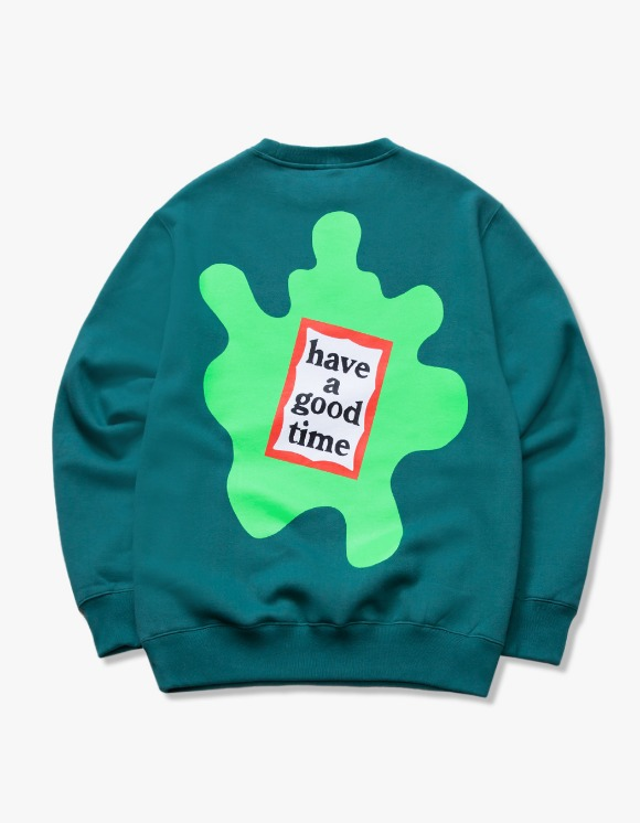 have a good time Amoeba Frame Crewneck - Smokey Green | HEIGHTS. | 하이츠 온라인 스토어