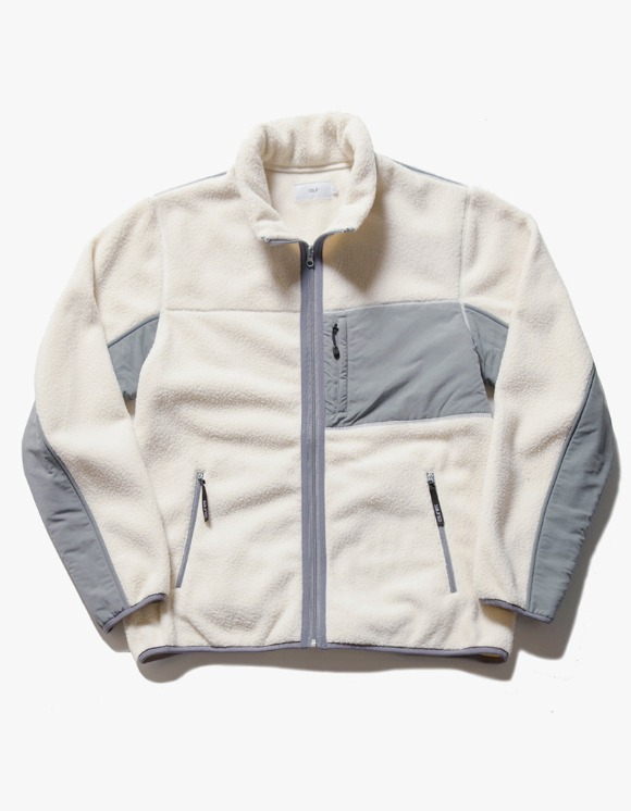 IZOLA NYC Sherpa Fleece Jacket - Cream | HEIGHTS. | 하이츠 온라인 스토어