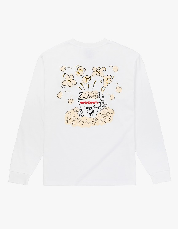 MISCHIEF MSCHF Popcorn Long Sleeve - White | HEIGHTS. | 하이츠 온라인 스토어