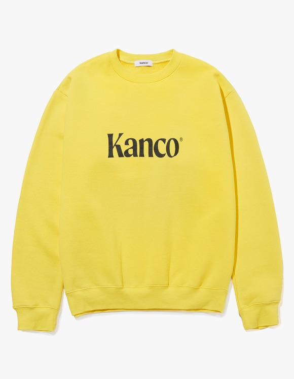 KANCO KANCO SERIF LOGO SWEATSHIRT yellow | HEIGHTS. | 하이츠 온라인 스토어