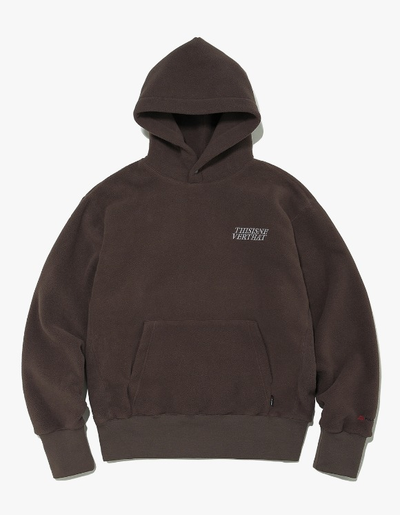 thisisneverthat POLARTEC Fleece Hoodie - Brown | HEIGHTS. | 하이츠 온라인 스토어