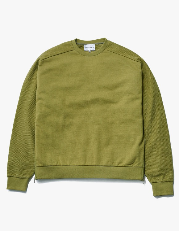 AECA WHITE Suite Double Zip Sweat - Olive | HEIGHTS. | 하이츠 온라인 스토어