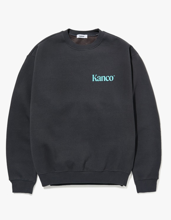 KANCO KANCO MINI SERIF LOGO SWEATSHIRT charcoal | HEIGHTS. | 하이츠 온라인 스토어