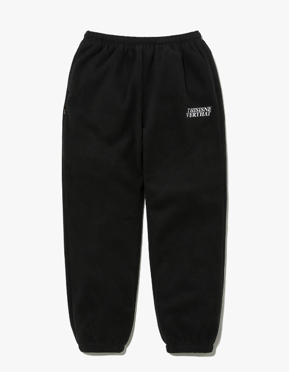 thisisneverthat POLARTEC Fleece Pant - Black | HEIGHTS. | 하이츠 온라인 스토어