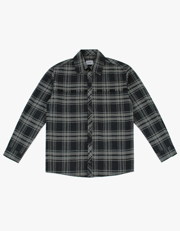CLIF Raw Cut Check Shirt - Gray | HEIGHTS. | 하이츠 온라인 스토어