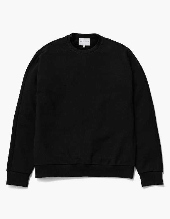 AECA WHITE Blake Patch Sweat - Black | HEIGHTS. | 하이츠 온라인 스토어
