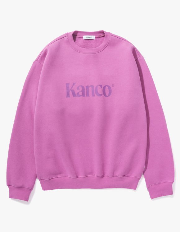 KANCO KANCO SERIF LOGO SWEATSHIRT pink | HEIGHTS. | 하이츠 온라인 스토어