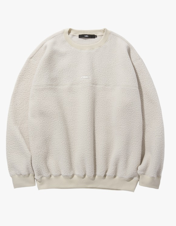 LMC LMC BOA FLEECE OVERSIZED SWEATSHIRT beige | HEIGHTS. | 하이츠 온라인 스토어