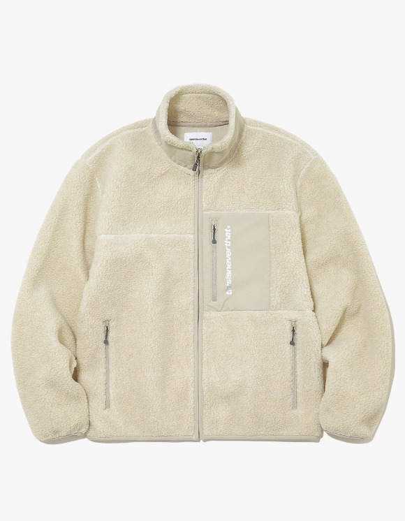 thisisneverthat SP Boa Fleece Jacket - Ivory | HEIGHTS. | 하이츠 온라인 스토어