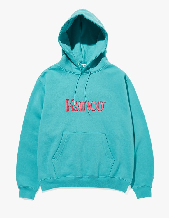 KANCO KANCO SERIF LOGO HOODIE mint | HEIGHTS. | 하이츠 온라인 스토어