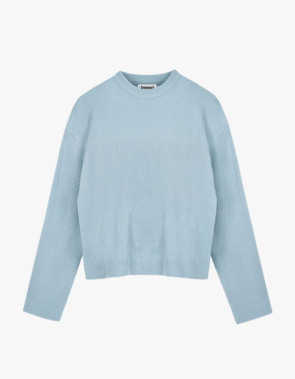 Dessert Round Neck Knit  - Light Blue | HEIGHTS. | 하이츠 온라인 스토어