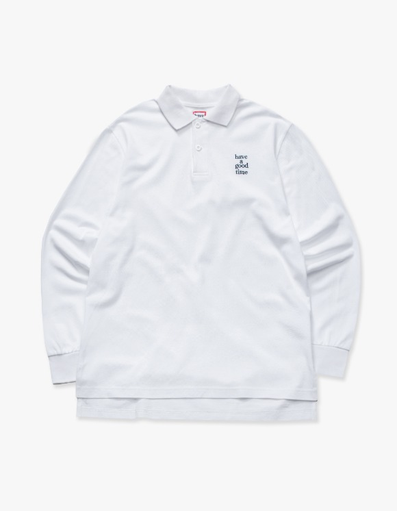 have a good time Logo L/S Polo Shirts - White | HEIGHTS. | 하이츠 온라인 스토어