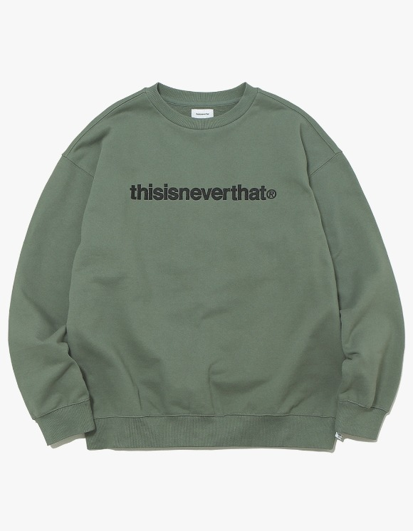 thisisneverthat T-Logo Crewneck - Olive | HEIGHTS. | 하이츠 온라인 스토어