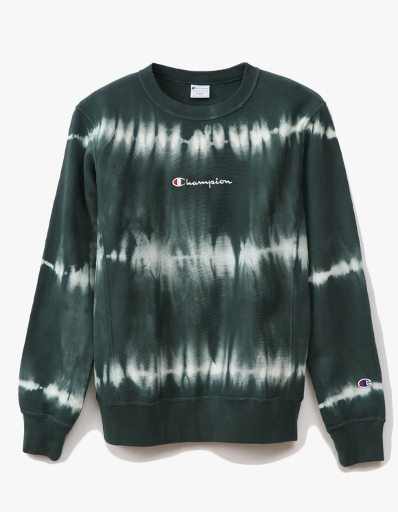 Champion REVERSE WEAVE® 10oz Tie Dye Crewneck - Green | HEIGHTS. | 하이츠 온라인 스토어