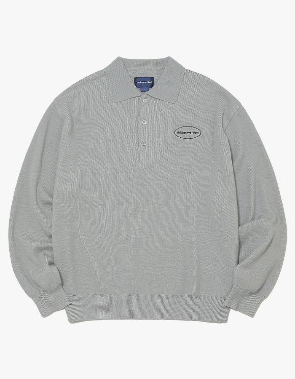 thisisneverthat E/T-Logo Knit Polo - Grey | HEIGHTS. | 하이츠 온라인 스토어