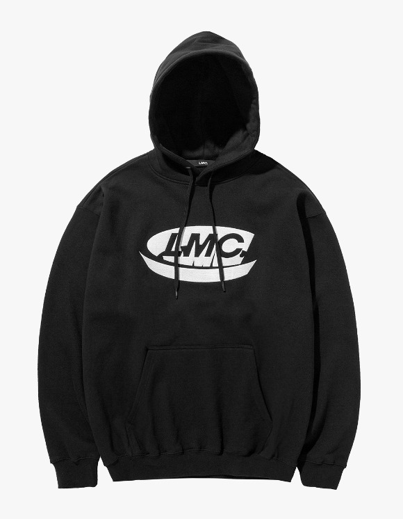 LMC LMC CONTRAST CO EMB OVERSIZED HOODIE black | HEIGHTS. | 하이츠 온라인 스토어