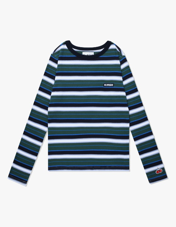 KIRSH COLOR STRIPE T-SHIRTS IA - GREEN | HEIGHTS. | 하이츠 온라인 스토어