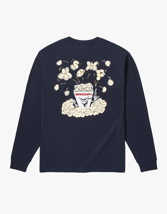 MISCHIEF MSCHF Popcorn Long Sleeve - Navy | HEIGHTS. | 하이츠 온라인 스토어