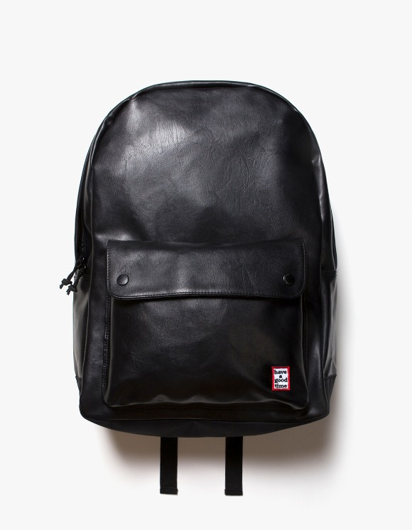 have a good time Frame Faux Leather Backpack - Black | HEIGHTS. | 하이츠 온라인 스토어