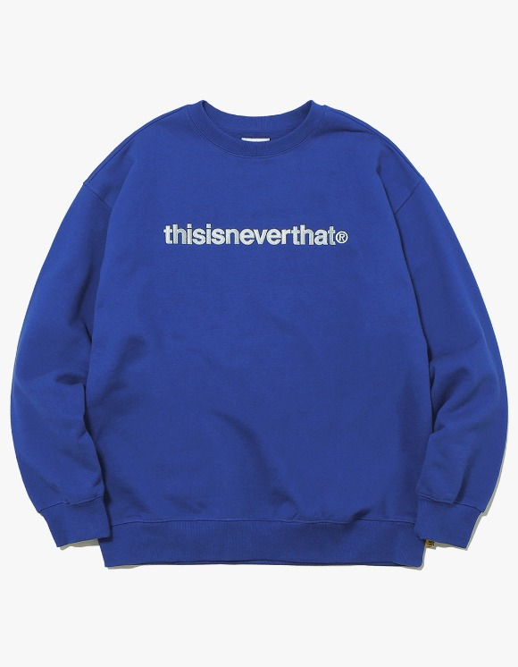 thisisneverthat T-Logo Crewneck - Dark Blue | HEIGHTS. | 하이츠 온라인 스토어