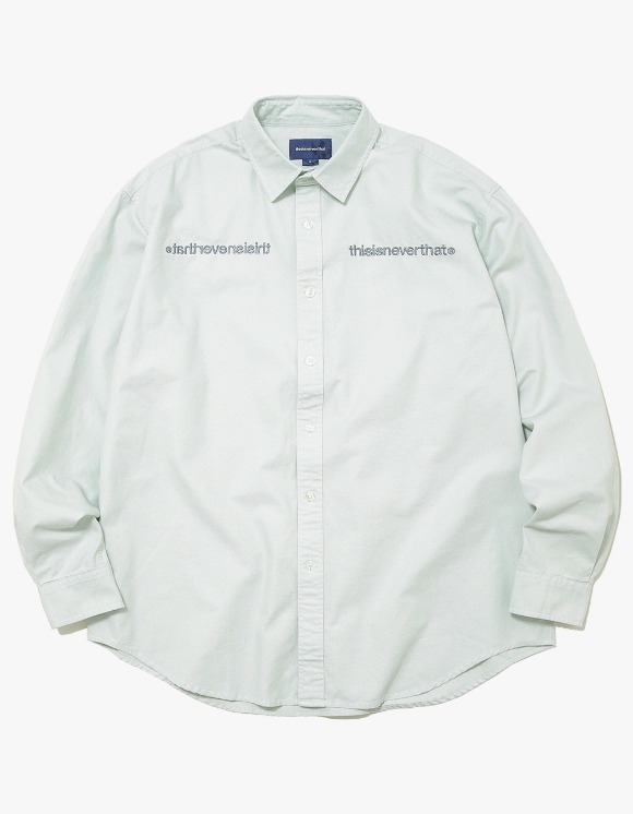 thisisneverthat MI-Logo Oxford Shirt - Mint | HEIGHTS. | 하이츠 온라인 스토어