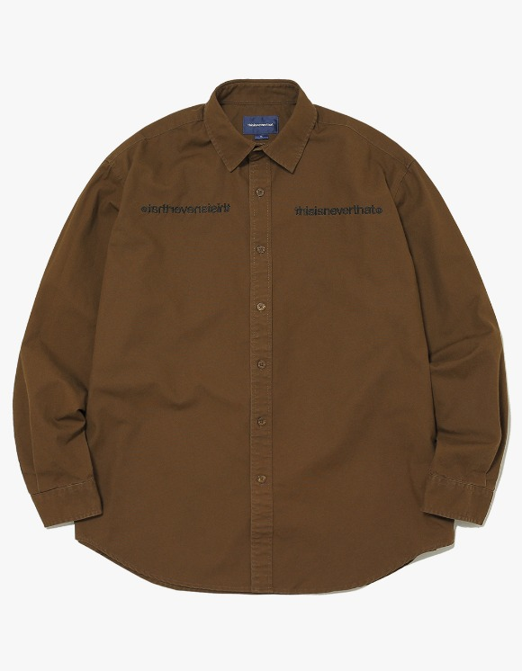 thisisneverthat MI-Logo Oxford Shirt - Brown | HEIGHTS. | 하이츠 온라인 스토어