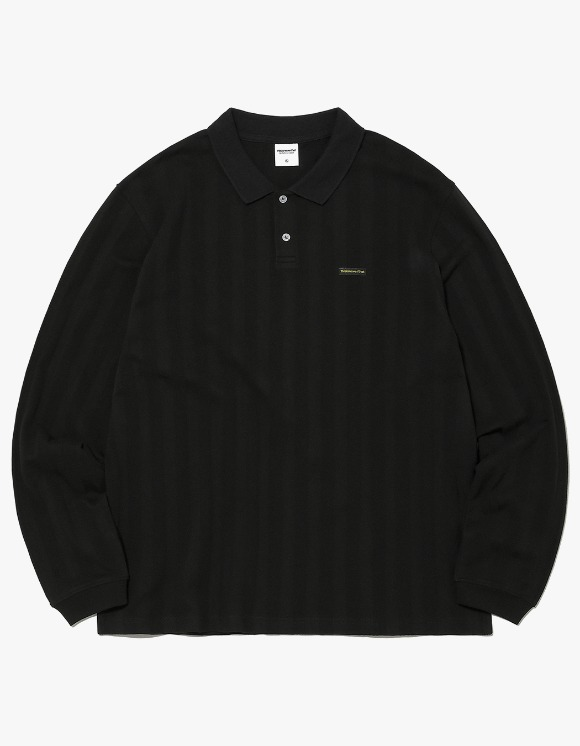 thisisneverthat Jacquard Jersey Polo - Black | HEIGHTS. | 하이츠 온라인 스토어