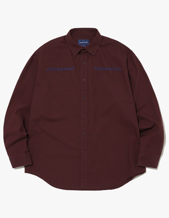 thisisneverthat MI-Logo Oxford Shirt - Burgundy | HEIGHTS. | 하이츠 온라인 스토어