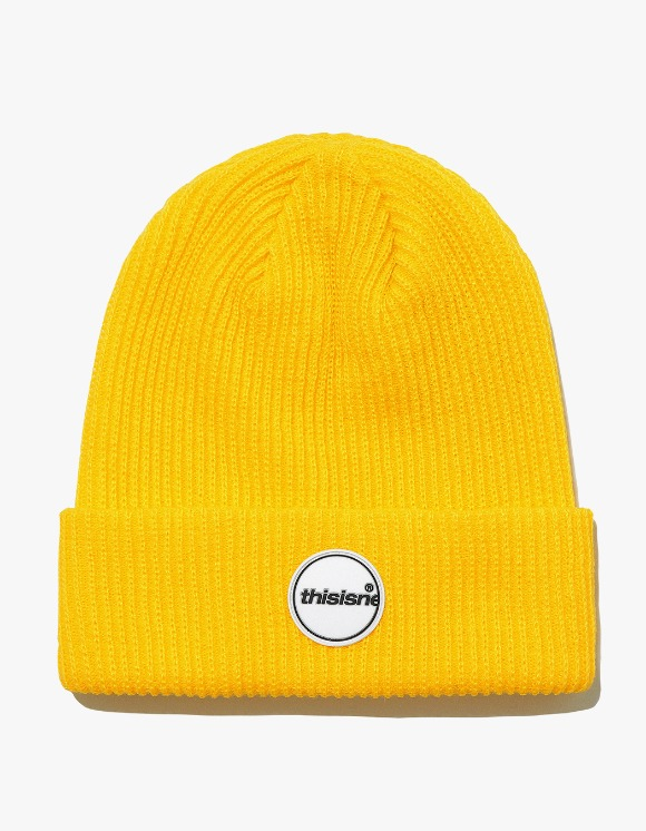 thisisneverthat Rubber C-Logo Short beanie - Yellow | HEIGHTS. | 하이츠 온라인 스토어