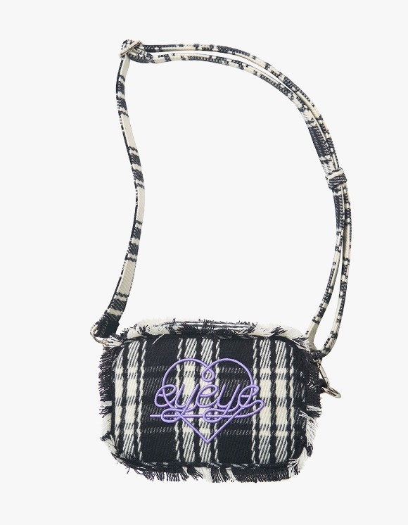 eyeye Check Combination Fringe Pouch Bag - Black | HEIGHTS. | 하이츠 온라인 스토어