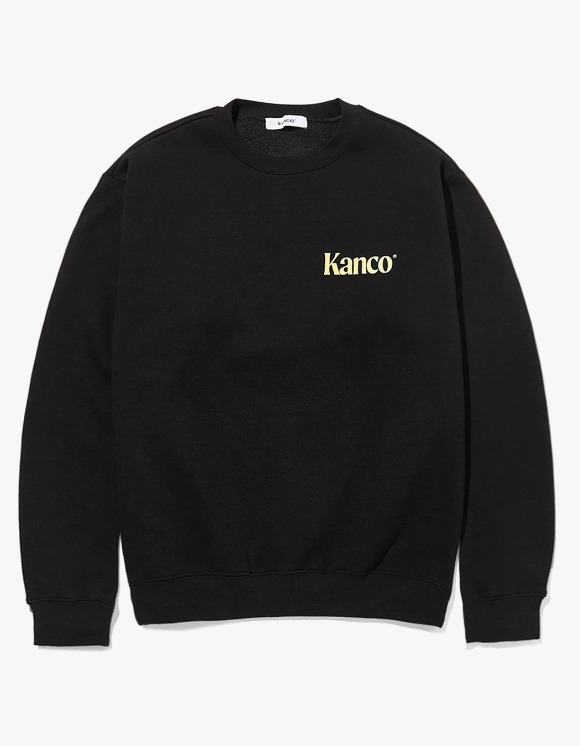 KANCO KANCO MINI SERIF LOGO SWEATSHIRT black | HEIGHTS. | 하이츠 온라인 스토어