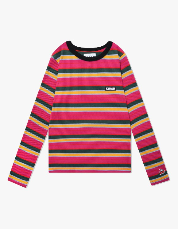 KIRSH COLOR STRIPE T-SHIRTS IA - HOT PINK | HEIGHTS. | 하이츠 온라인 스토어