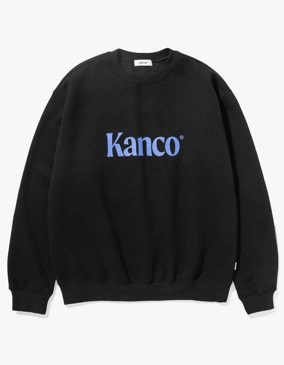 KANCO KANCO SERIF LOGO SWEATSHIRT Black | HEIGHTS. | 하이츠 온라인 스토어