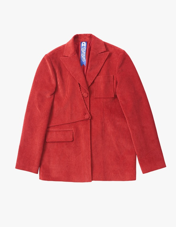 eyeye EYEYE Clip Deformable Corduroy Jacket - Red | HEIGHTS. | 하이츠 온라인 스토어