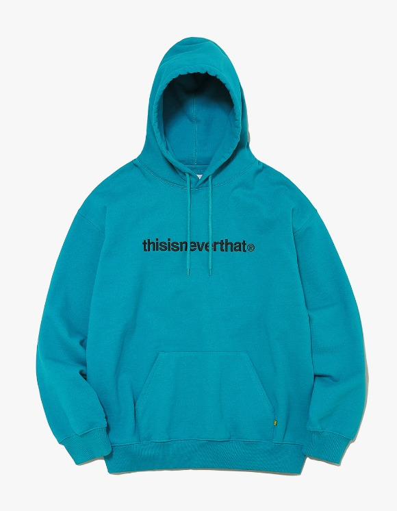 thisisneverthat T-Logo Hooded Sweatshirt - Blue Green | HEIGHTS. | 하이츠 온라인 스토어
