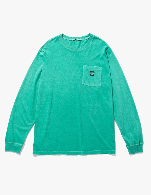 Fuzz FUZZ PIGMENT DYED POCKET L/S TEE mint | HEIGHTS. | 하이츠 온라인 스토어
