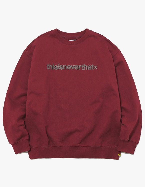 thisisneverthat T-Logo Crewneck - Burgundy | HEIGHTS. | 하이츠 온라인 스토어