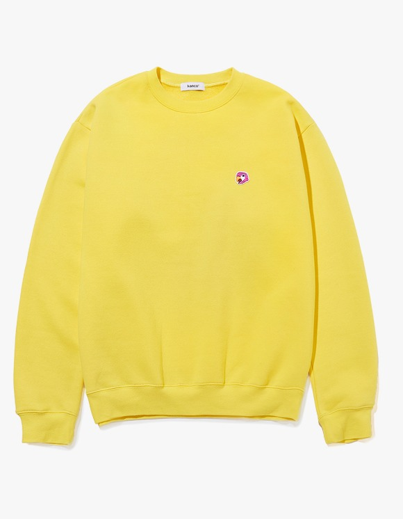 KANCO KANCO LOGO SWEATSHIRT yellow | HEIGHTS. | 하이츠 온라인 스토어
