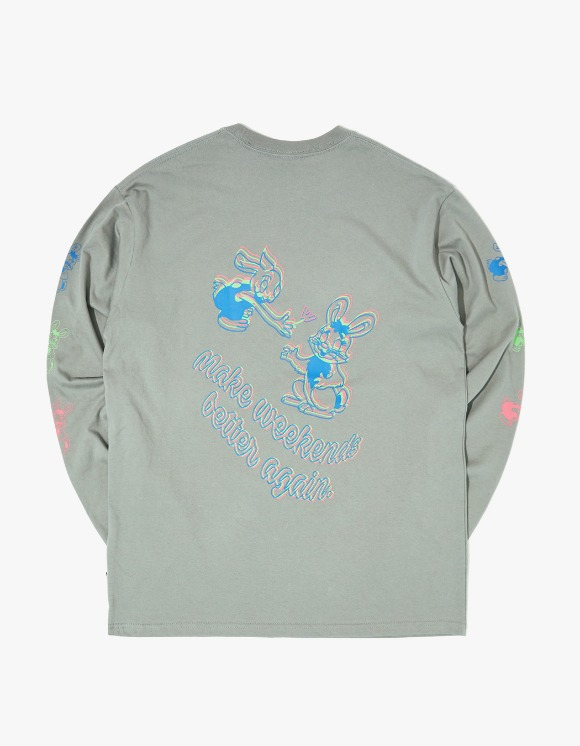 WKNDRS L/S Rabbit Tee - Grey | HEIGHTS. | 하이츠 온라인 스토어