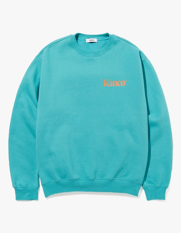 KANCO KANCO MINI SERIF LOGO SWEATSHIRT mint | HEIGHTS. | 하이츠 온라인 스토어